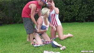 wife ass mouth threesome